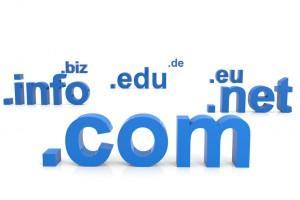 3D domain names. Internet concept.